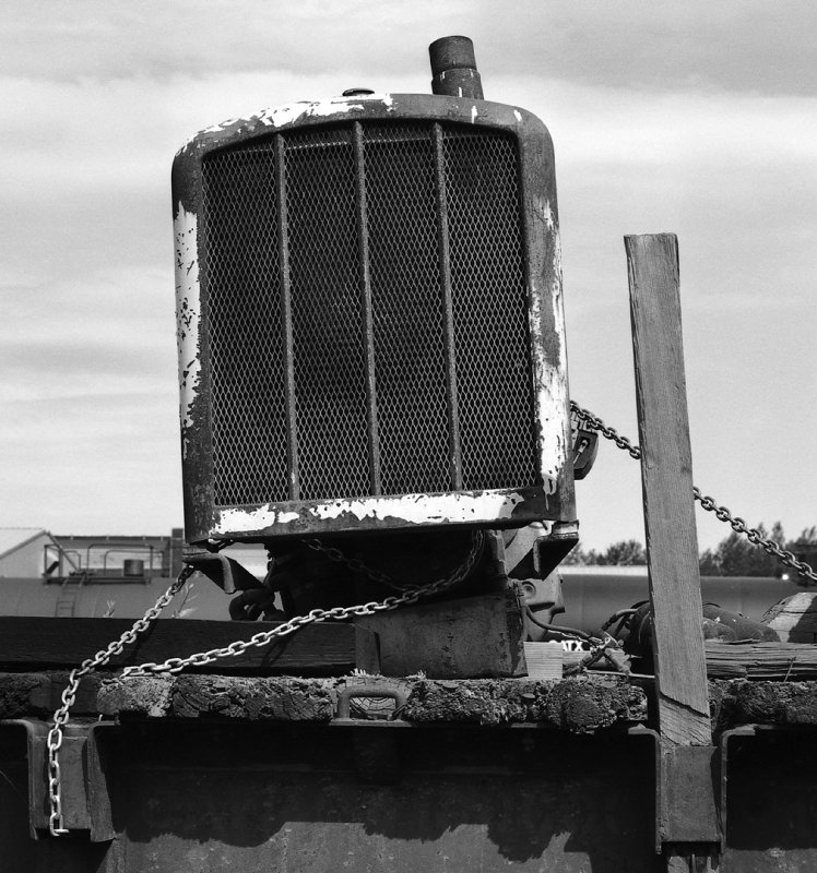 Ship Creek Junk Yard Radiator BW.jpg